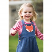 Doris Dungaree Dress, Blue Lake/Fox